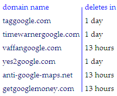 Web Domain Names