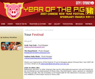 City of Sydney Chinese New Year website