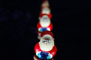 santa christmas lights