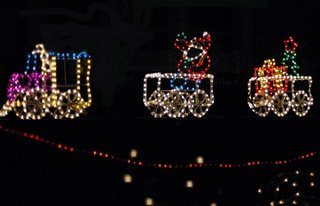 train christmas lights