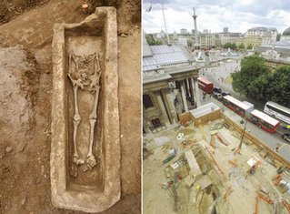 Découverte d'un sarcophage romain à Londres