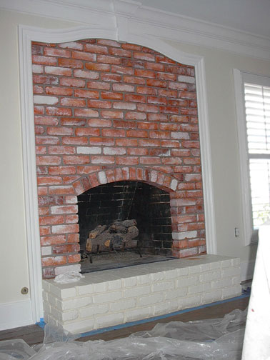 Faux Paint Red Brick Fireplace Everything I Create Garage Doors To Look Like Wood