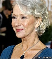 British actress Dame Helen Mirren at the 2007 Golden Globes