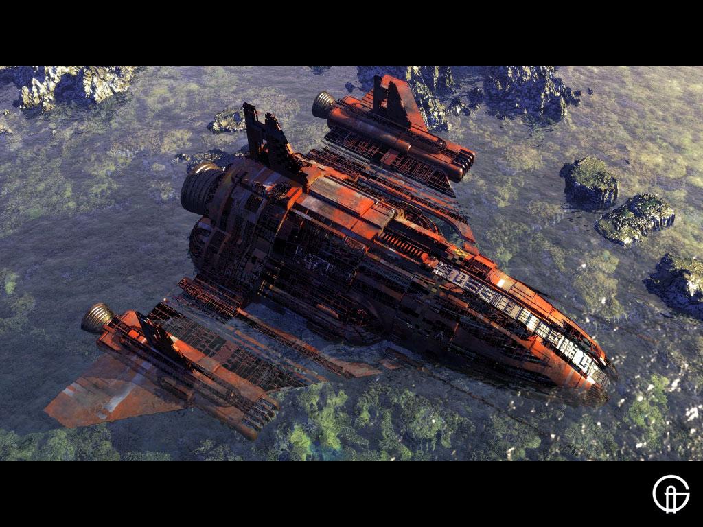 broken space ship - photo #1