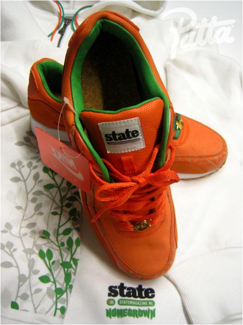 best website ea063 fa1d8 Nike X Patta Air Max 90 Homegrown Hyperstrike