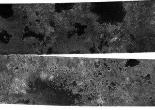 Cassini radar images showing lakes