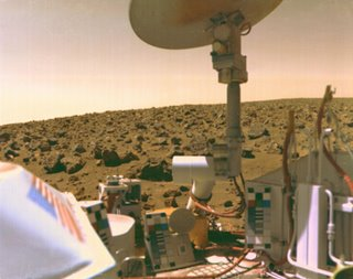 Nasa image of Viking 2 on Mars