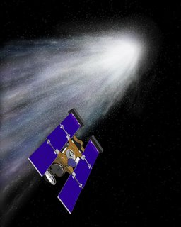 Nasa artist's impression of Stardust at Comet Wild 2