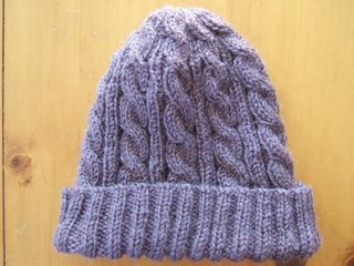 e601d8032ae0b3 Free Patterns: Hats. 3AM Cable Hat - Jan 2006