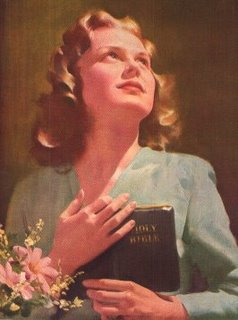 Girl And Bible