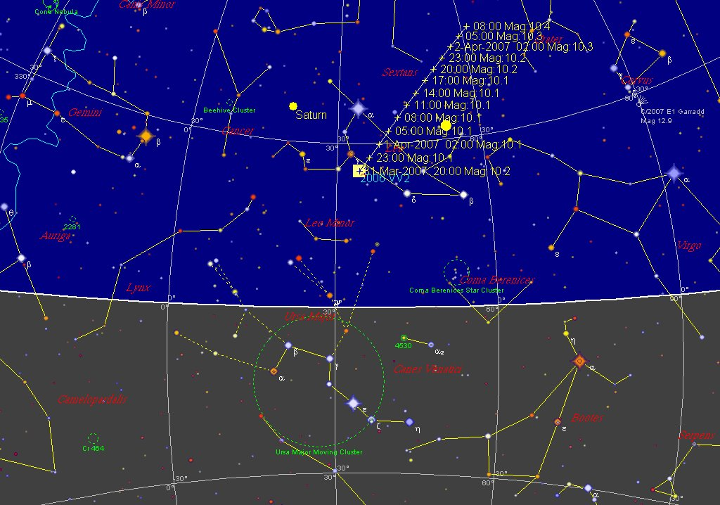 asteroid viewing path tonight - photo #16