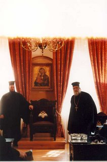 Greek Orthodox clergy in Athens, Greece
