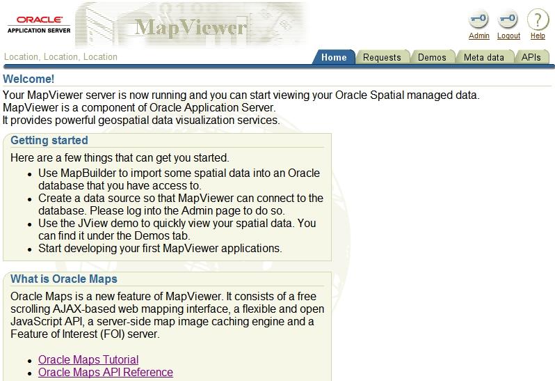 Oracle Maps (SPATIAL/Mapviewer): Mapviewer installieren und