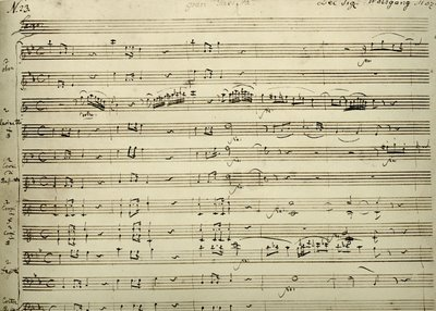 Mozart, Gran Partitta, K. 361, holograph score, Library of Congress