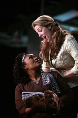 Aundi Marie Moore and Claudia Huckle as Fiordiligi and Dorabella, Così Fan Tutte, Washington National Opera, 2007, photo by Karin Cooper