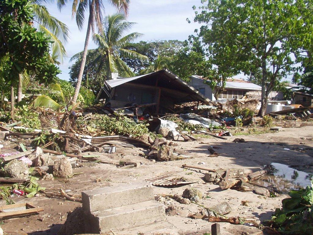biukili aftermath of thetsunami in solomon islands