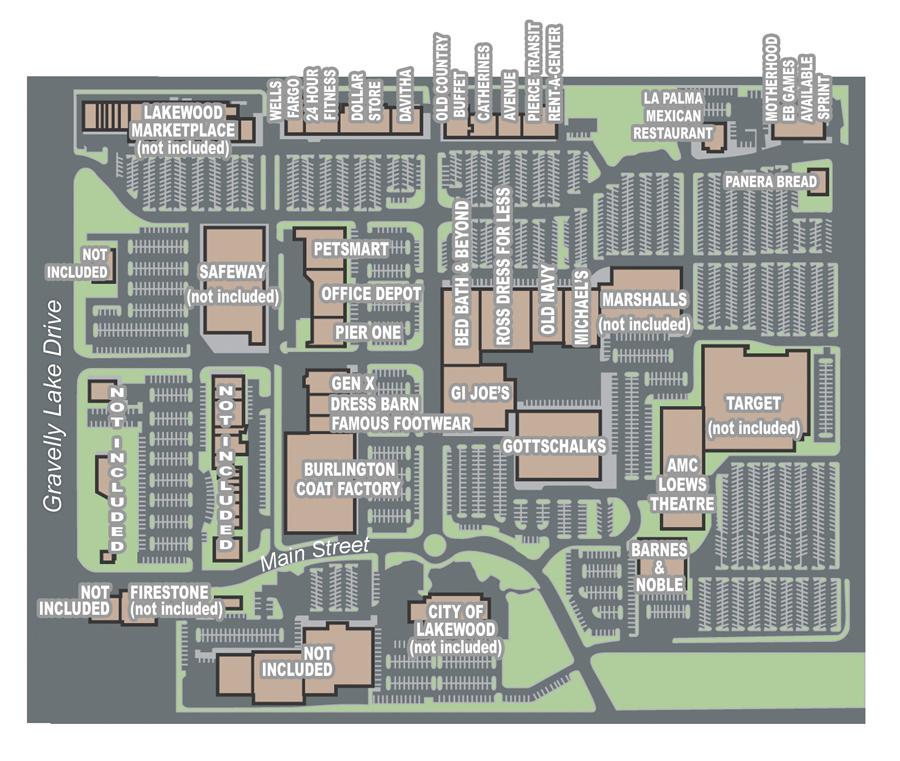 Lakewood Mall Map Malls of America   Vintage photos of lost Shopping Malls of the  Lakewood Mall Map
