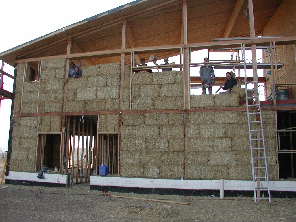 Strawbale Building in Golden – Straw Bale Garage Plans