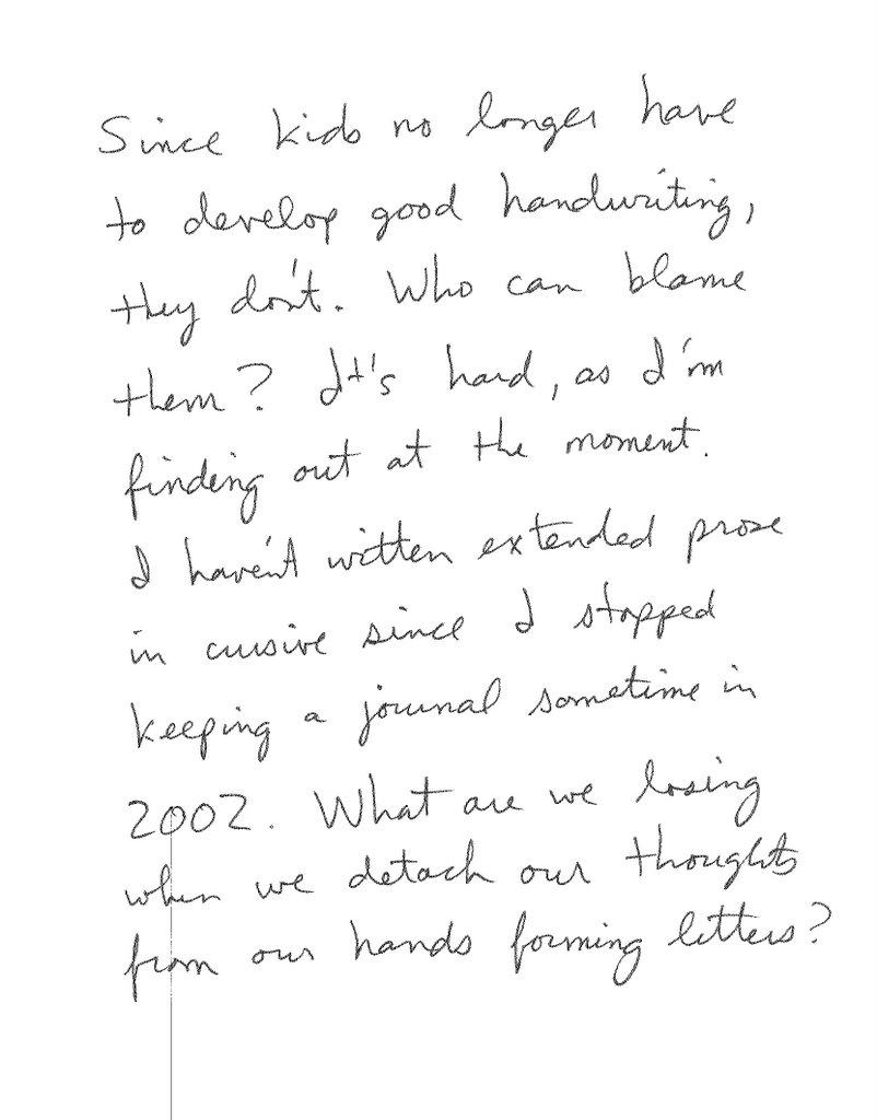 e a r t h g o a t the death of cursive handwriting. Black Bedroom Furniture Sets. Home Design Ideas