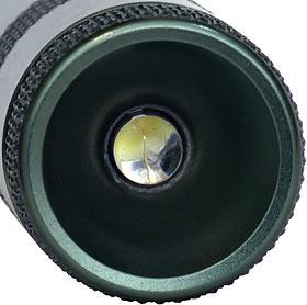 A flashlight viewed as a model of the human retina.
