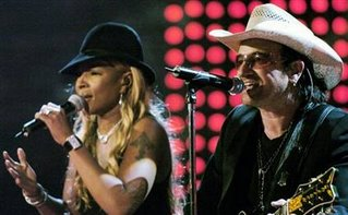Blige and Bono