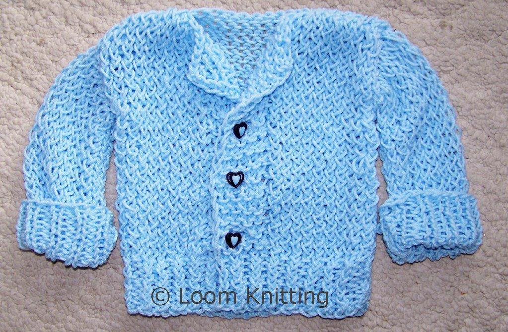 Loom Knitting: Baby Sweater