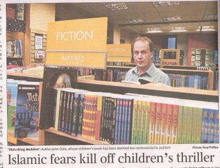 John Dale in a typical mainstream bookstore's kid's section