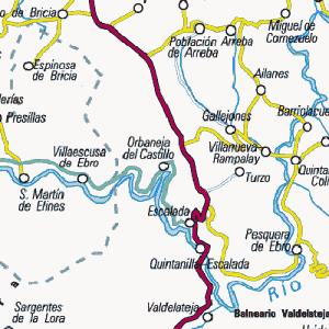 Mapa Orbaneja Del Castillo Burgos.Brumas Nortenas