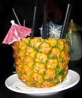 Mai Tai in a pienapple - from Imbibe