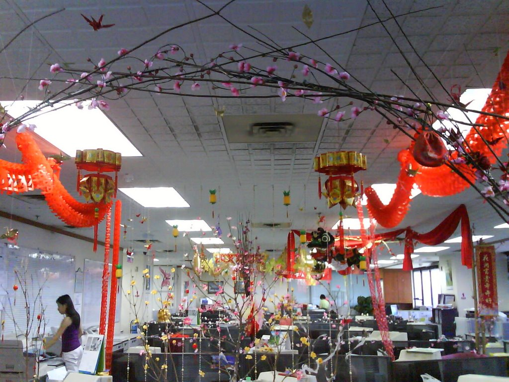 How is ur office chinese new year decoration?