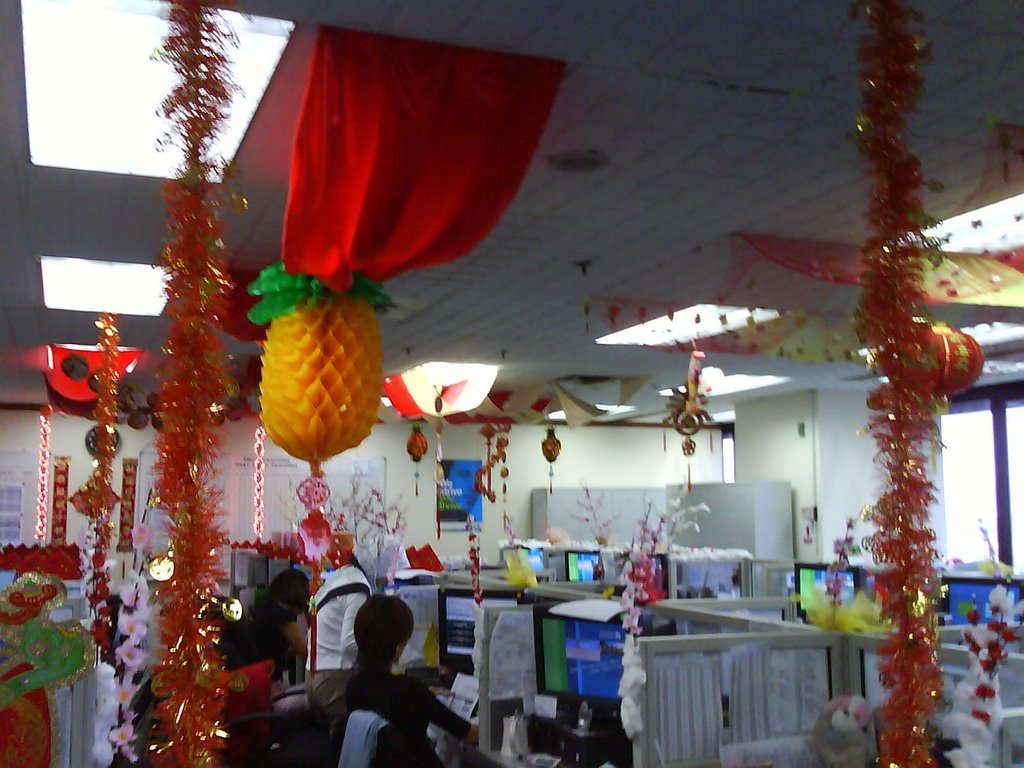 ~ LiFe GoEs On ~: CNY decoration at my office