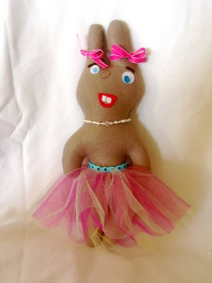 felt ballerina bunny doll