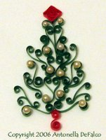 free quilling christmas tree pattern