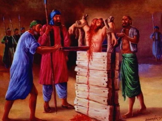 Image result for Aurangzeb killing sikhs