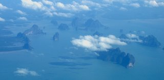 Some islands in Phang Nga Bay