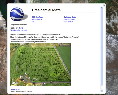 how to get a section from google earth