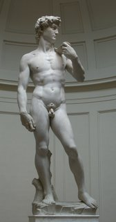 David by Michelangelo (rudey nudey man)