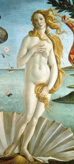 Venus from The Birth of Venus by Botticelli (naked lady)