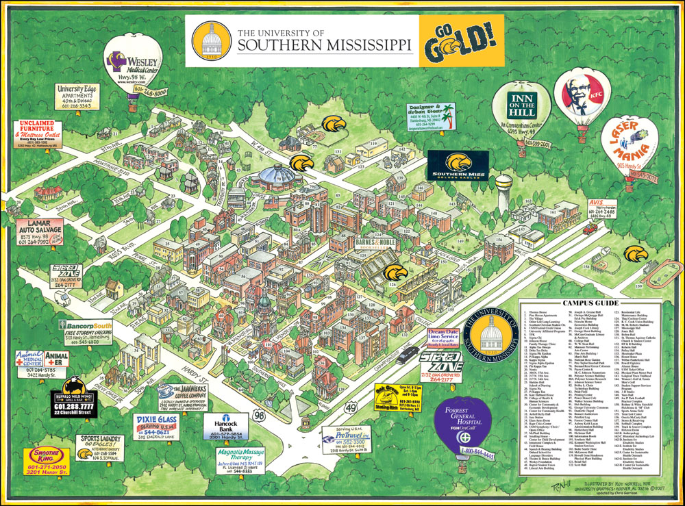 southern miss campus map Garrison S Map Revisions Usm southern miss campus map