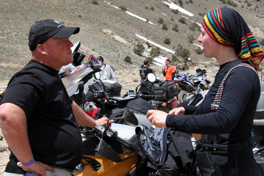 RawHyde Adventure Rally at Ballarat, CA - Mike Caldwell and Anne Girardin at Cerro Gordo Pass