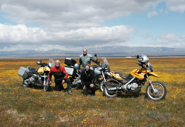 RawHyde Adventure training California Poppy Preserve - Jim Hyde, Anne Girardin, Tim Campion