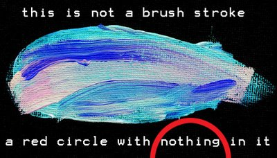 this is not a brush stroke; a red circle with nothing in it, by allan revich, 2007