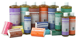 Dr. Bronner's green cleaning products