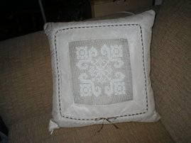 Filet Lace Pillow
