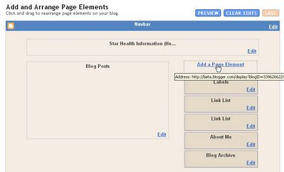 Blogger beta Layout