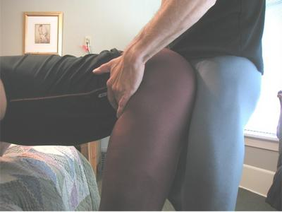 Rubbing his cock all over her pussy 2