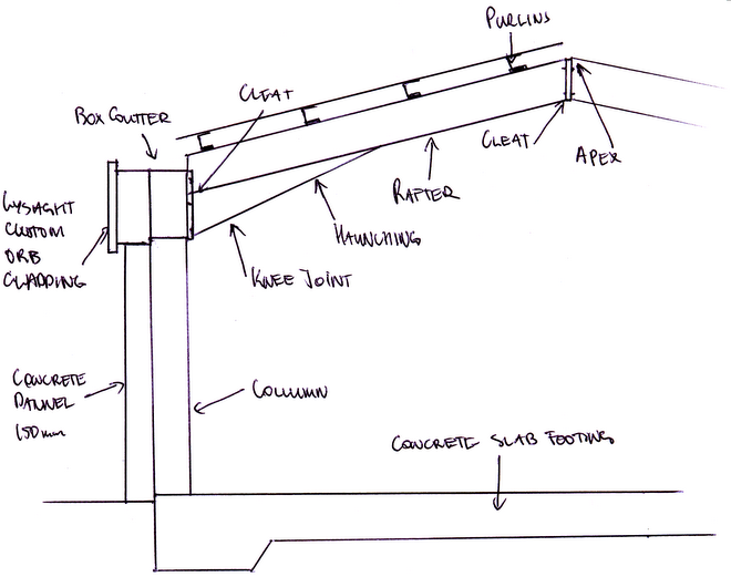 Tlrob Knee Joint Connection Showing Bolted Rafter