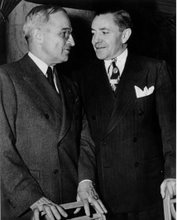 Vice President Harry S Truman talks with James P. McGranery, March 31, 1945