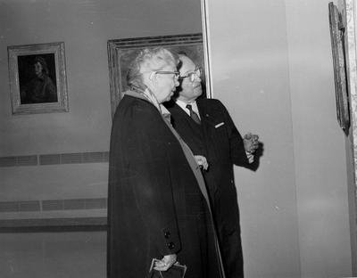 Former President Truman with Mrs. Roosevelt at Library