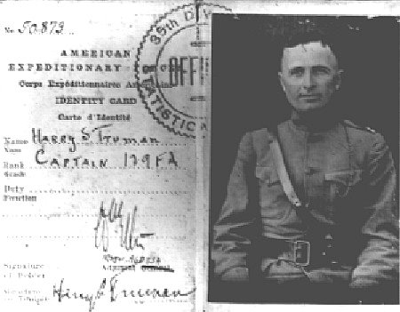 Harry S Truman Captain United States Army